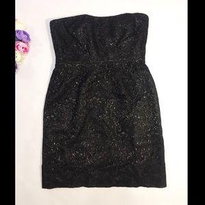 J. Crew black mini dress size 8 evening cocktail